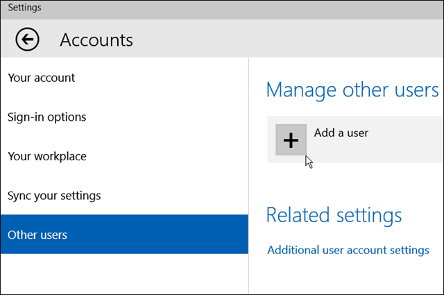 Create a Local Windows 10 Account (1)