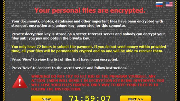 Critroni ransomware 2