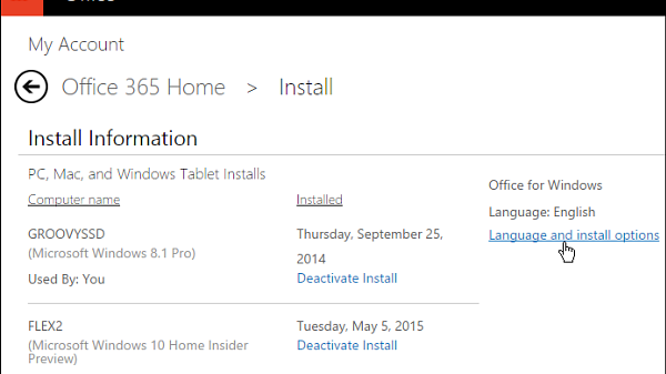 Install upgrade office 2016 preview 5
