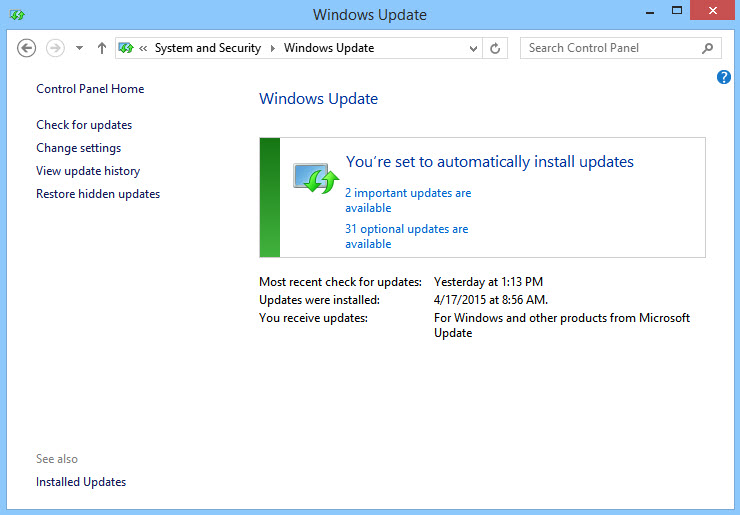 Microsoft Patch Tuesday-update