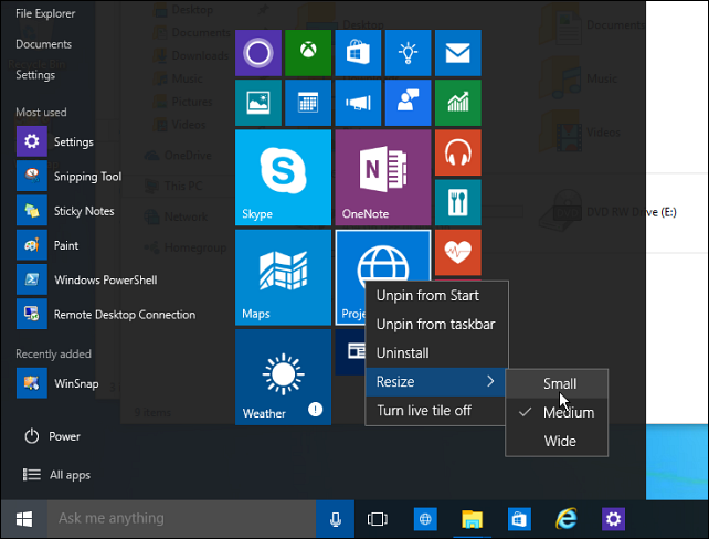 Windows 10 Start Menu Smaller3