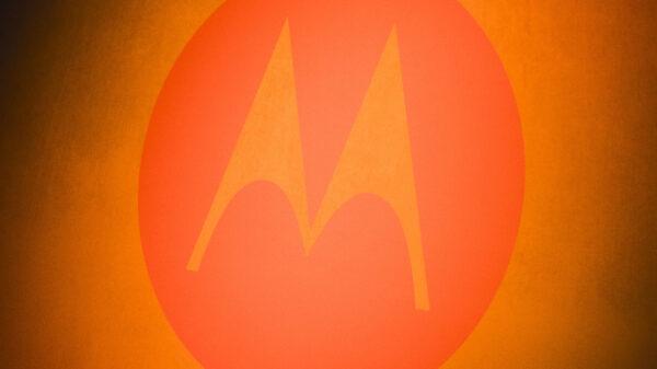 motorola glowing orange