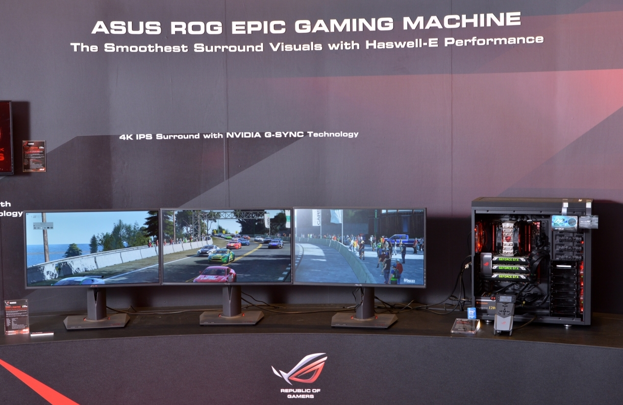 ASUS ROG PG27AQ G-sync monitor with 4K surround
