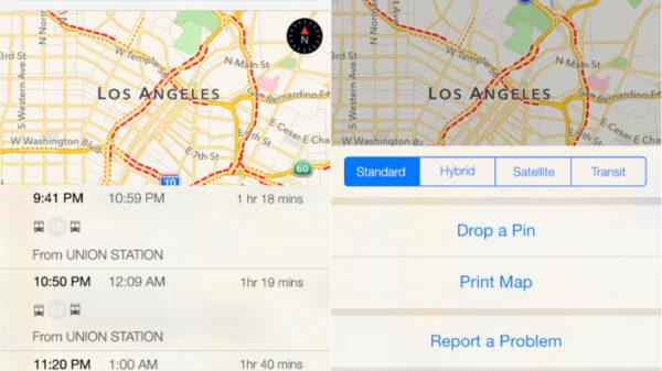 iOS maps transit 600