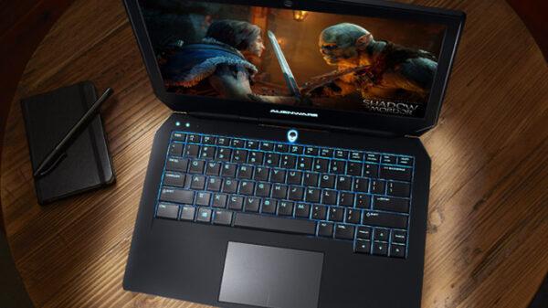 alienware 13 laptop open table mordor