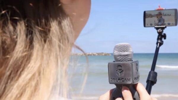 selfie stick microphone 600