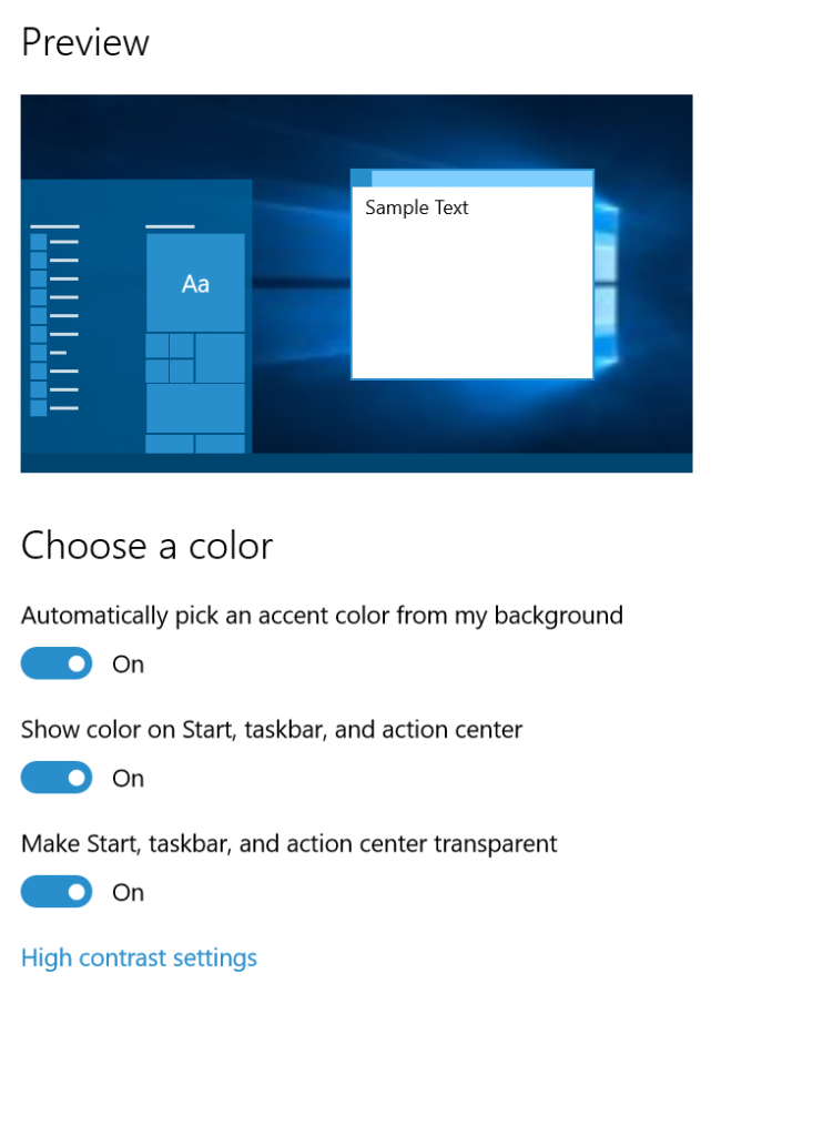 windows 10 10525 Color-Option-600