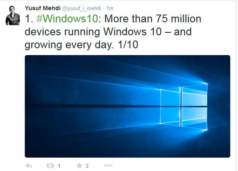 windows 10 75million device update 600