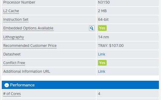 ASRock N3150B ITX spec