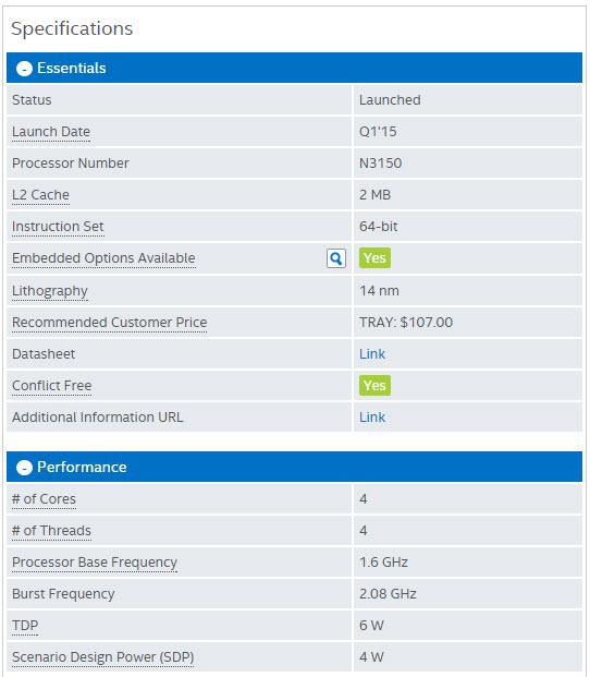 ASRock N3150B-ITX-spec
