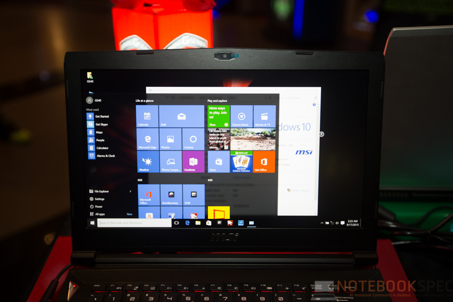 MSI Launch Notebook Intel Skylake-10