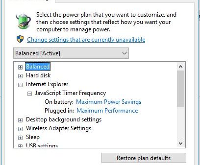 Power saving Internet Explorer 1