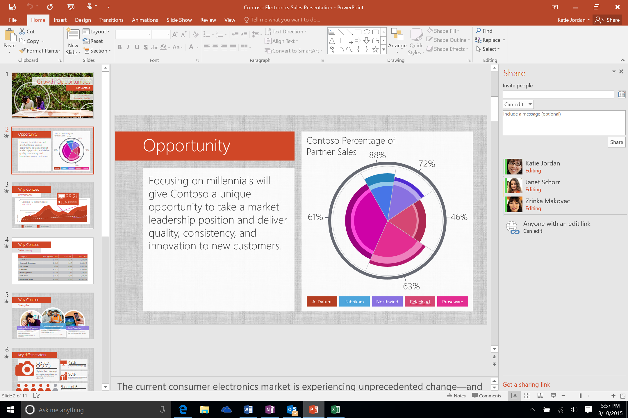 Simplfied file sharing in PowerPoint 2016