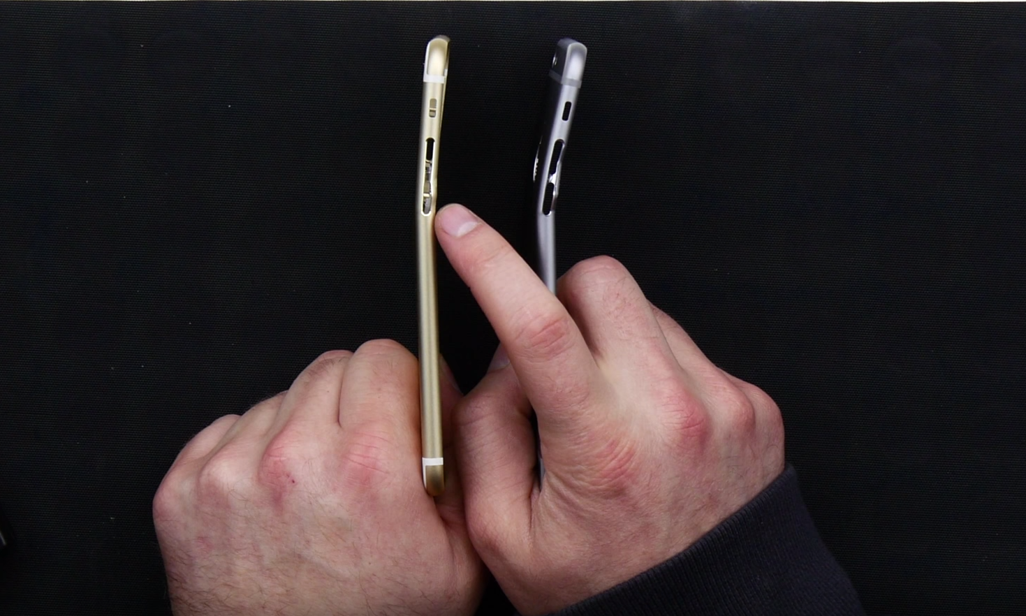 iphone 6 vs iphone 6s bend test compare 600