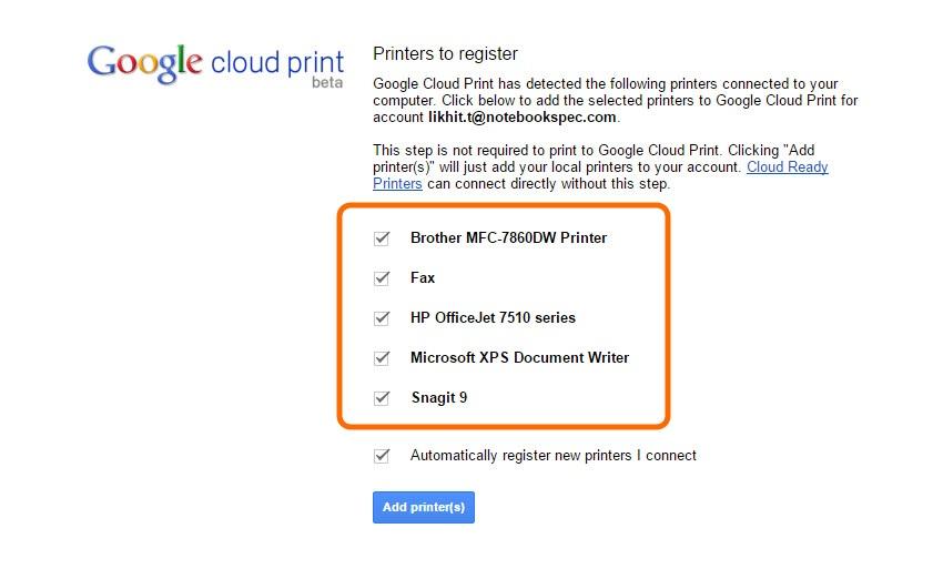 HP-Google Cloud Print Setting (3)
