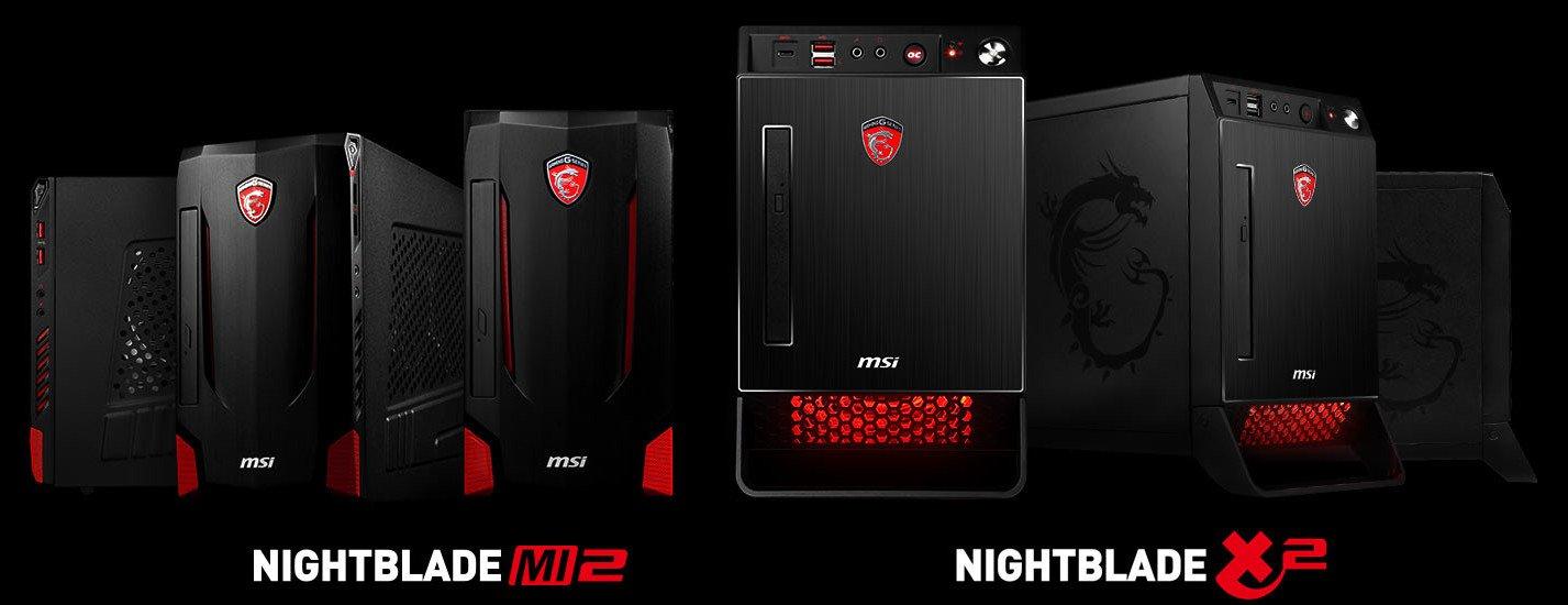 MSI Nightblade X2 and MI2 gaming desktops 600 01