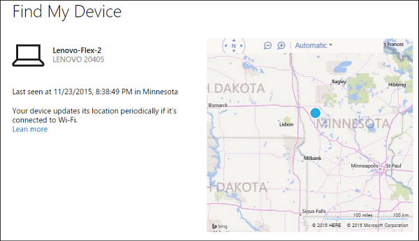 Find My Device- Windows 10 (2)