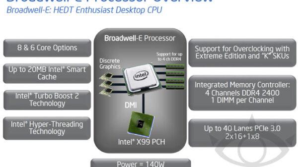Intel Broadwell E processors detail 600