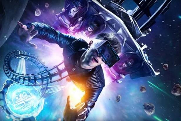 Virtual reality roller coaster 600