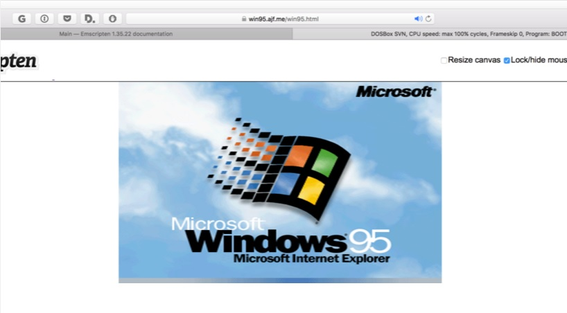 windows 95 on browser 600 01