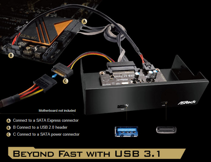 ASRock Front USB 3.1 Panel