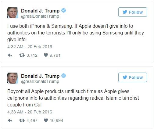 Donald Trump twitt about iphone 600 01