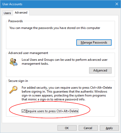 Enable Ctrl-Alt-Delete to Login - windows10  (2)