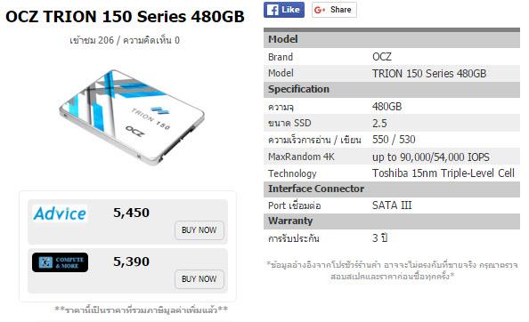 OCZ TRION 150 Series 480GB