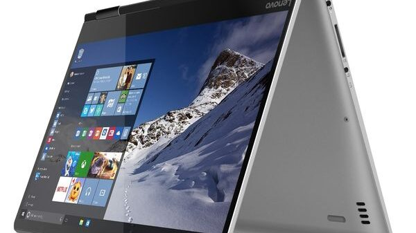 YOGA 710 14 inch in silver tent mode w 600
