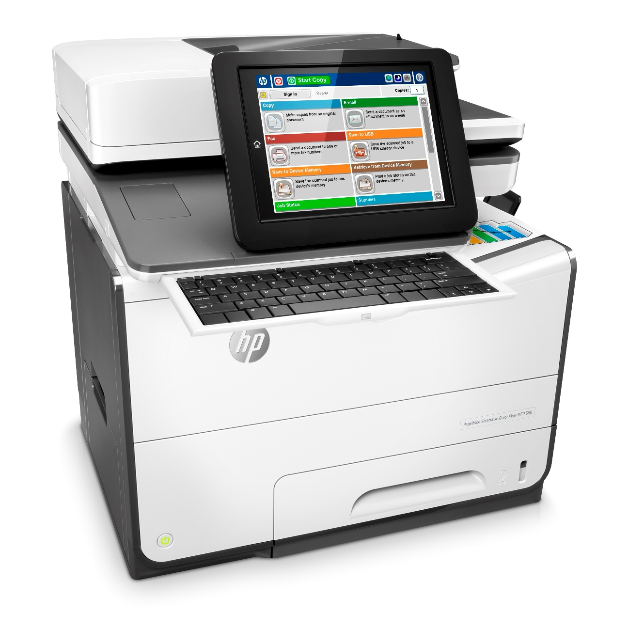 2-HP PageWide Enterprise Color Flow MFP 586z Printer