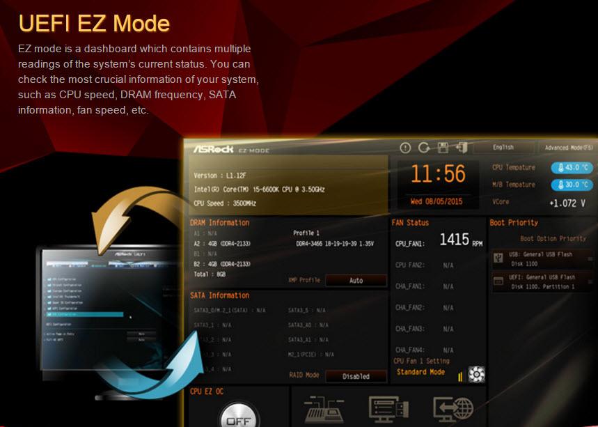 ASRock Z170M Pro4-uefi easy mode