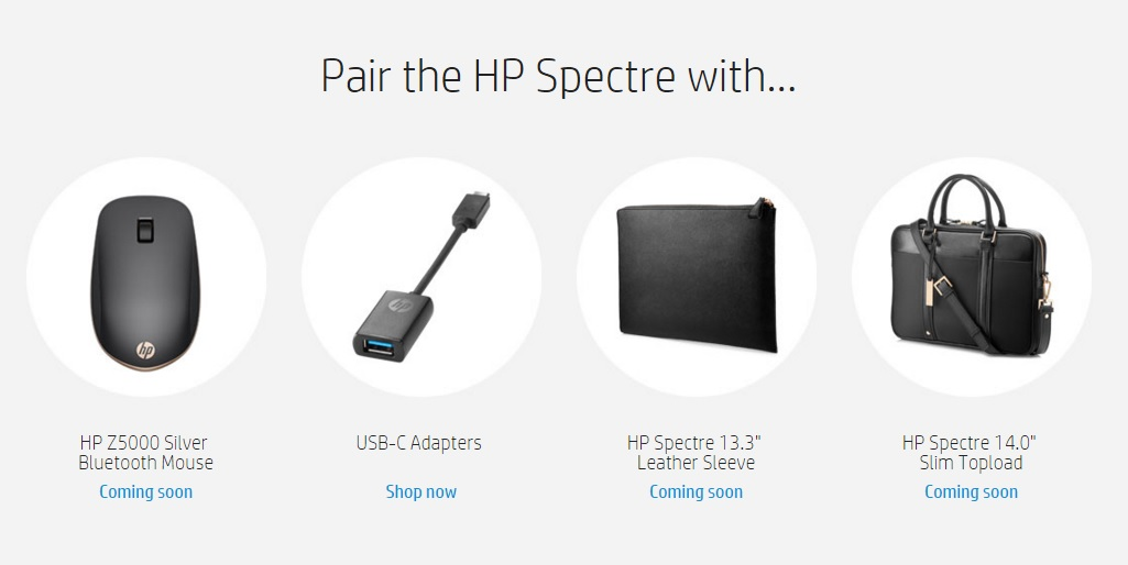 HP Spectre accessories 600