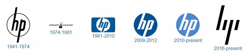 HP logo history 600