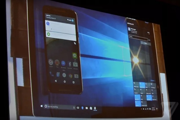 Windows 10 will bring your Android phone notifications to your PC 600