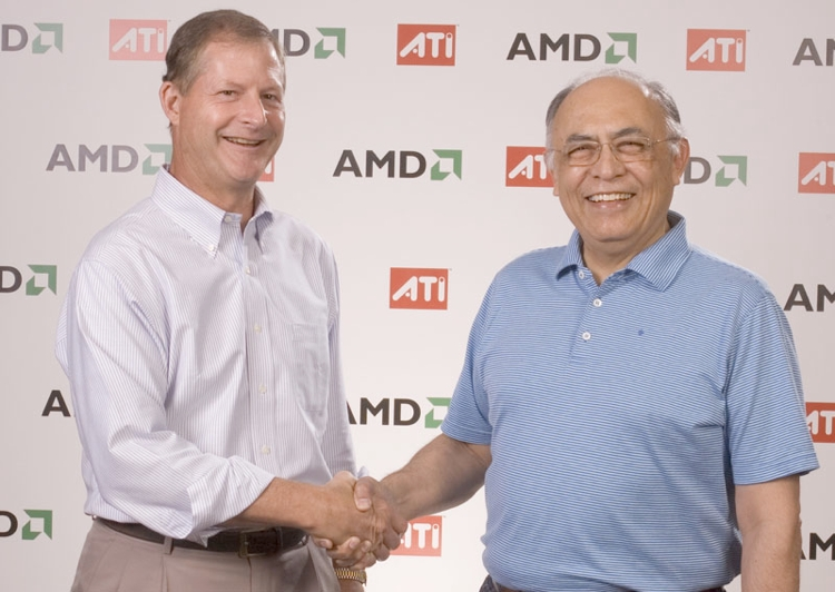 ATI(David Orton) and AMD(Hector Ruiz) officially announce the historic merger 600