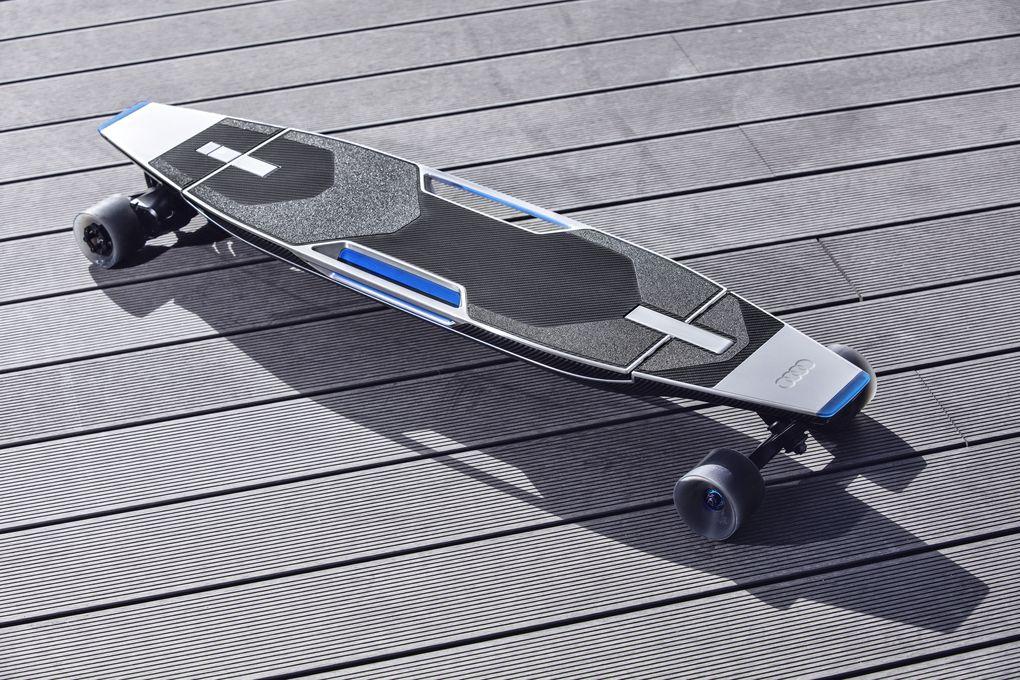 Audi has electric longboard hidden in cars bumper 600 06