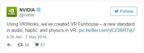 NVIDIA 7VRWorks-tweet 600
