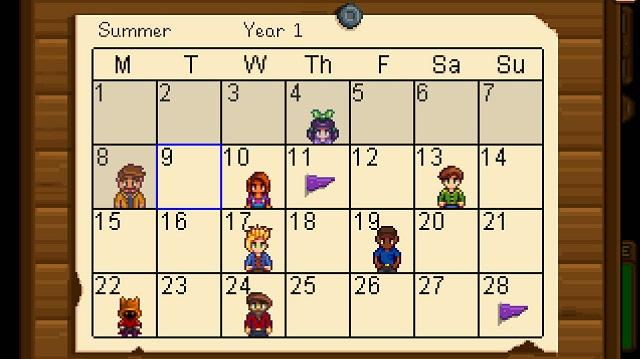 Stardew-Valley-Kalender-Sommer