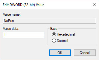 Disable Run Dialog Box in Windows (7)
