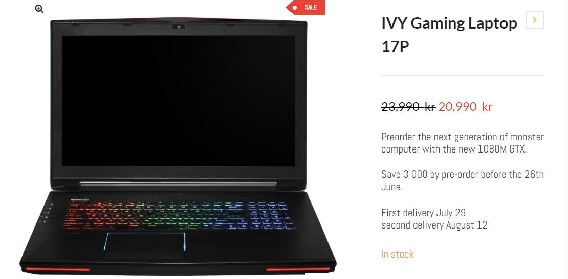 IVY Gaming laptop first 1080m notebook 600 01