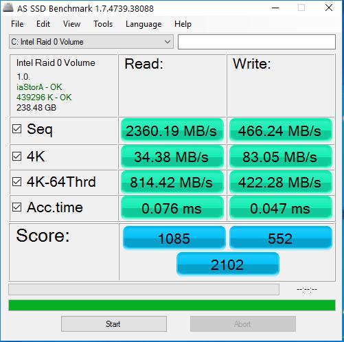 Intel Raid 0