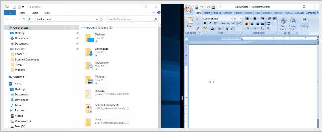 Windows 10-Snap-side-by-side