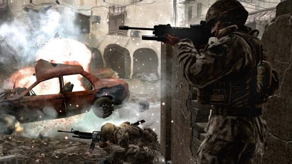 call of duty 4 modern warfare soldiers machine explosion 36839 3840x2160