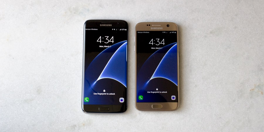 The Samsung Galaxy S7 and S7 Edge (left) 600 01