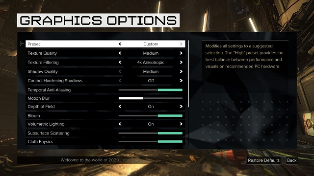 Deus Ex Mankind Divided PC Graphics Settings Here (2)