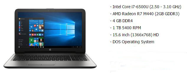 HP 15 ay003TX spec