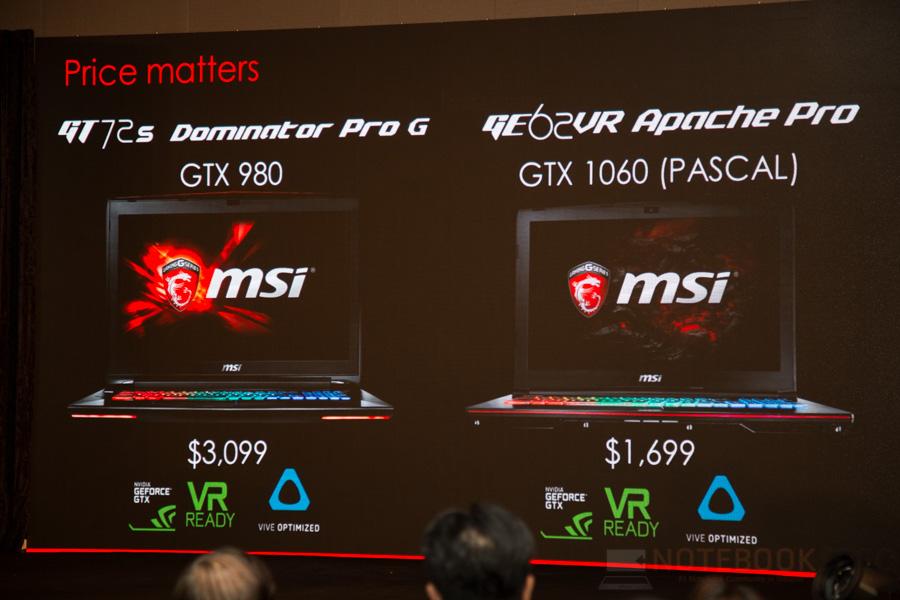 MSI Lauch Notebook NVIDIA GTX 10- Series 2016 NBS-30