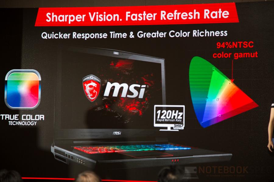 MSI Lauch Notebook NVIDIA GTX 10- Series 2016 NBS-63
