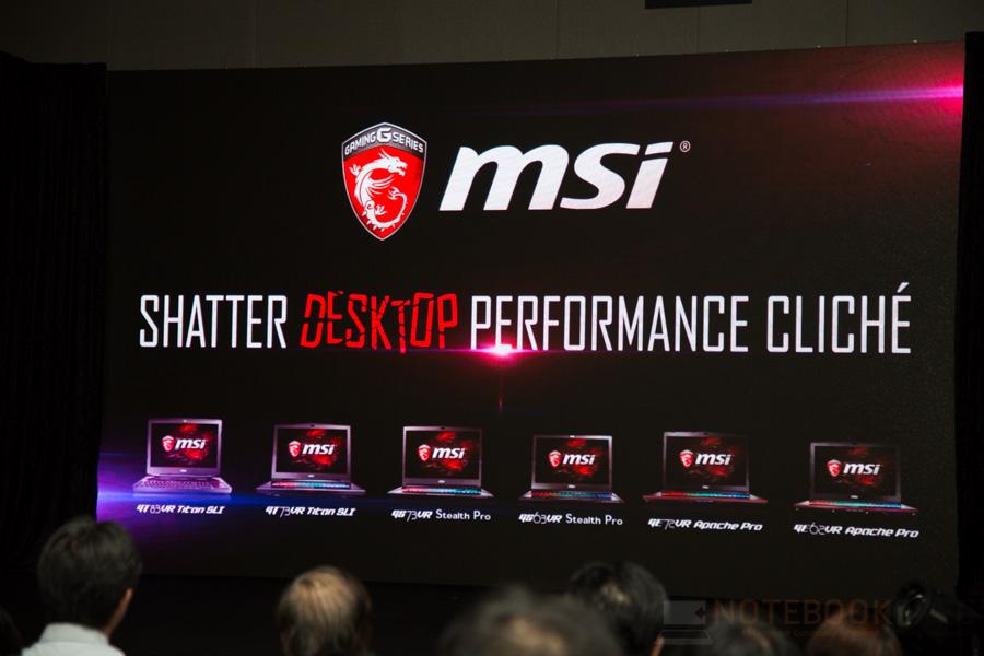 MSI Lauch Notebook NVIDIA GTX 10- Series 2016 NBS-82
