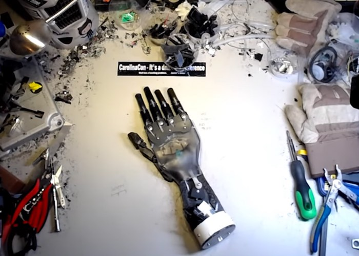 Robotic-Hand-From-Coffee-Machine
